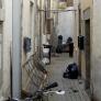 Fond de la ruelle avec mur à l'arrière de la rue Notre-Dame
