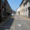 Bas de rue après la place de l'Orneau