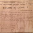 diplôme de Marie Labarre - document Evelyne Legros